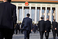 Delegates head to a National People's Congress plenary session at the great Hall of the peopleBeijing, China, Monday, March 9, 2009. China's National People's Congress is a largely powerless body but it represents one of the country's last displays of old style communism. Ethnic minority delegates from around the country attend the meetings wearing traditional costumes, a conceit which allows the government to argue that the nation's different cultures co-exist harmoniously. Little is decided at these gatherings though. The NPC functions largely as a rubber stamp body for policies put forward by the Communist party's elite.