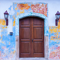 ANTIGUA , GUATEMALA - JULY 30 : Architectural details in Antigua Guatemala on July 30 2015. The historic city Antigua is UNESCO World Heritage Site since 1979.