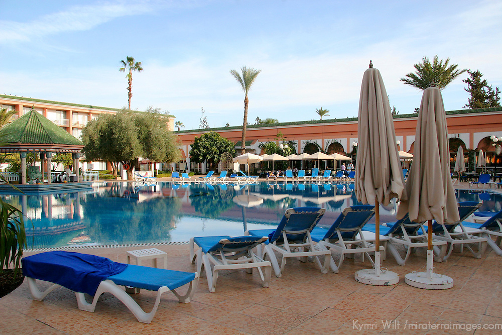 North Africa, Morocco, Marrakesh. Royal Mirage Hotel