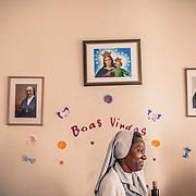 Sister Paula in the main house of the FMA (Figlie di Maria Ausiliatrice) in the center of Maputo