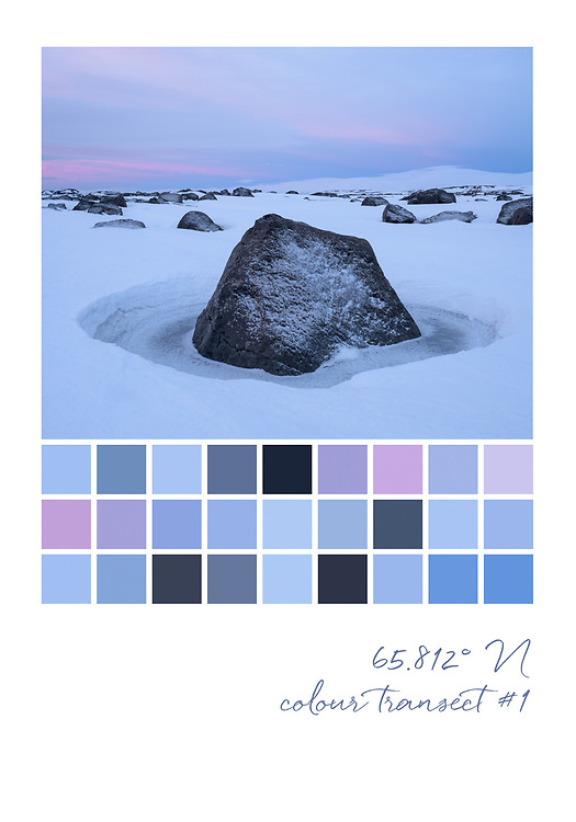 Colour transect #1, 65.812° N