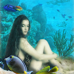 Fantasy Art - a Nymph in an Underwater World