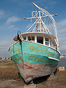 abandoned boat on land for sale in New Orleans