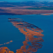 Remote Cape Krusenstern National Monument on Alaska'a northwestern coast juts into the Bering Sea.
