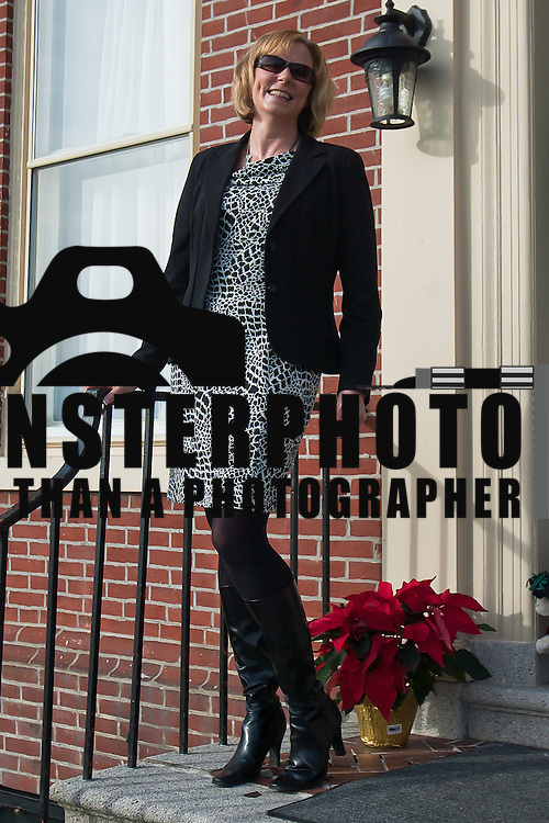 12/22/11 Wilmington DE:  Leigh Perillo wearing a Blazer, Dress boots by JC Penny and Jewelry by Boutique in Savannah GA Thursday Dec. 22, 2011 at Gerardine House at Ursuline Academy in Wilmington Delaware...Special to The News Journal/SAQUAN STIMPSON
