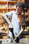 Making 'Ti Punch at the bar