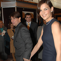 """Tom Cruie and wife Katie Holmes arrive for a screening of his new film, """"Lions for Lambs"""" at the Uptown Theater in Washington, DC"""