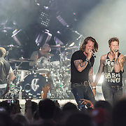 "WASHINGTON, DC - July 25, 2014 - Tyler Hubbard and Brian Kelley of Florida Georgia Line perform at Nationals Park in Washington, D.C. as part of Jason Aldean's Burn It Down Tour. The duo have had multiple singles top the US Country charts, including ""Cruise"" and ""This is How We Roll."" (Photo by Kyle Gustafson / For The Washington Post)"