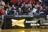 Broadcaster Tim Brando (right) at Mississippi vs. Florida at the Tad Smith Coliseum in Oxford, Miss. on Saturday, February 20, 2010 in Oxford, Miss. Florida won 64-61.