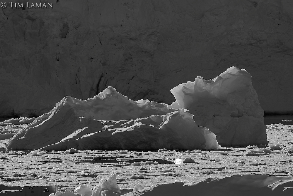 Backlit iceberg.