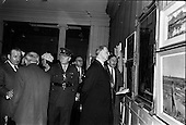 1963 - Opening of the RHA exhibition at the National College of Art, Dublin