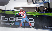 SHOT 12/4/15 12:16:31 PM - American skier Andrew Weibrecht celebrates a fifth place run in the finish area at the 2015 Audi Birds of Prey Downhill at Beaver Creek Ski Resort in Beaver Creek, Co. Birds of Prey is the only men's Audi FIS Ski World Cup stop in the United States. (Photo by Marc Piscotty / © 2015)