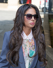 JUL 18 2014 Tulisa Contostavlos arrives at Crown Court this morning