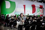ROMA. UNA DELEGATA ALL'ASSEMBLEA NAZIONALE DEL PARTITO DEMOCRATICO; A DELEGATION TO THE NATIONAL DEMOCRATIC PARTY