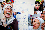 Teachers protest outside of the Ministry Council headquarters in downtown Cairo,on September 24, 2011. Teachers across Egypt have been on strike demanding pay raises, increased government investment in education and the dismissal of the Ahmed Mussa, the current Minister of Education. Ann Hermes/© The Christian Science Monitor 2011