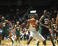 Ole Miss's Murphy Holloway (31) drives against Mississippi Valley State's  Blake Ralling (22) in Oxford, Miss. on Friday, November 9, 2012.
