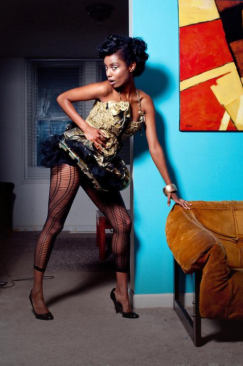 STL Fashion label, Trashbiscuit and their Summer 2010 designs. Model: Feleg