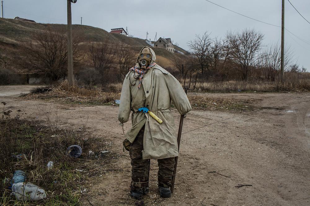 on Saturday, March 19, 2016 in Shyrokyne, Ukraine.