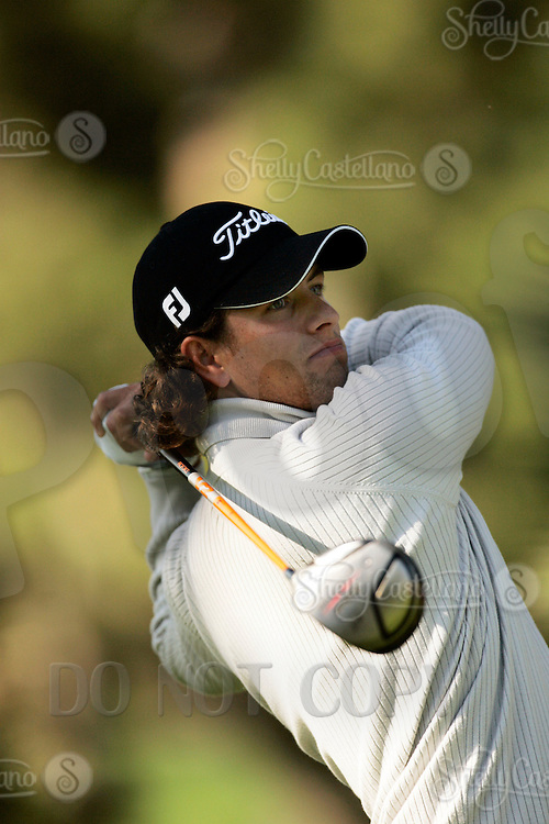 22 February 2006: Adam Scott finished 2/1 on day one of the 2006 World Golf Championships Accenture Match Play Championships in Carlsbad, CA. PGA player Adam Scott with long hair.