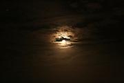 December moonrise over Jekyll Island beach.