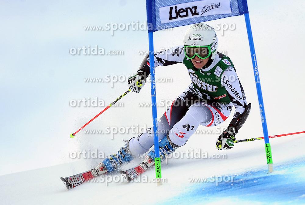 28.12.2013, Hochstein, Lienz, AUT, FIS Weltcup Ski Alpin, Lienz, Riesentorlauf, Damen, 1. Durchgang, im Bild Stefanie Köhle (AUT) // Stefanie Köhle (AUT) during the 1st run of ladies giant slalom Lienz FIS Ski Alpine World Cup at Hochstein in Lienz, Austria on 2013/12/28. EXPA Pictures © 2013, PhotoCredit: EXPA/ Erich Spiess