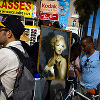 Venice Beach boardwalk is one of the great tourist attractions in Southern California.