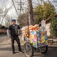 "Alberto Reyes Ambrocio, Mobile Food Seller, Calistoga.  ""I started this business four years ago...my biggest seller is the icecream sandwich."""