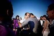 ANTONIO DI PIETRO SEGRETARIO DEL PARTITO ITALIA DEI VALORI INSIEME ALLA MOGLIE SUSANNA MAZZOLENI;