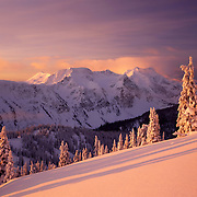 Cariboo Mountains in winter, Wells Grey Provincial Park British Columbia Canada