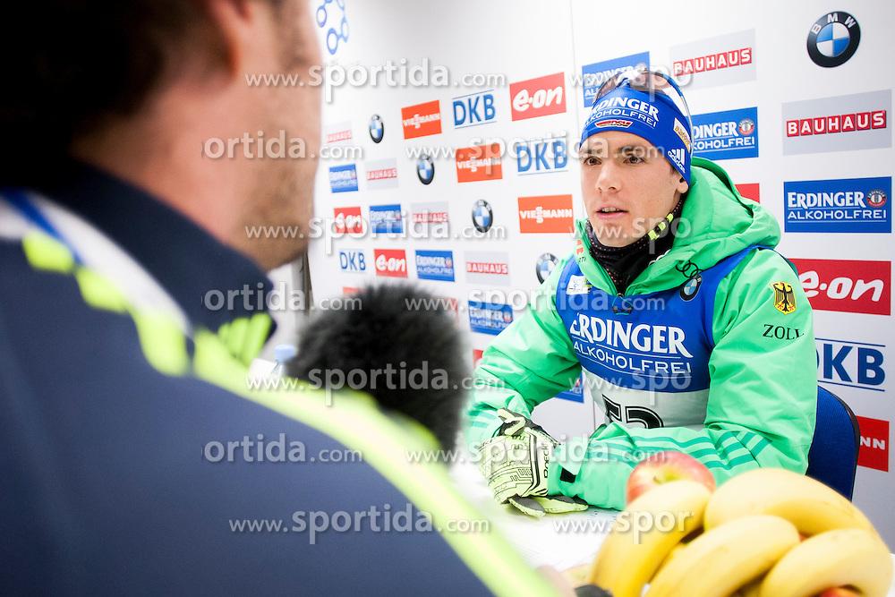 Simon Schempp (GER) during Men 10 km Sprint at day 1 of IBU Biathlon World Cup 2015/16 Pokljuka, on December 17, 2015 in Rudno polje, Pokljuka, Slovenia. Photo by Urban Urbanc / Sportida