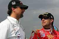 Michael Andretti and Bryan Herta at the Kentucky Speedway, Kentucky Indy 300, August 14, 2005