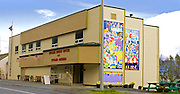 Alaska. Seward Senior Center and Museum on Third Avenue, downtown.
