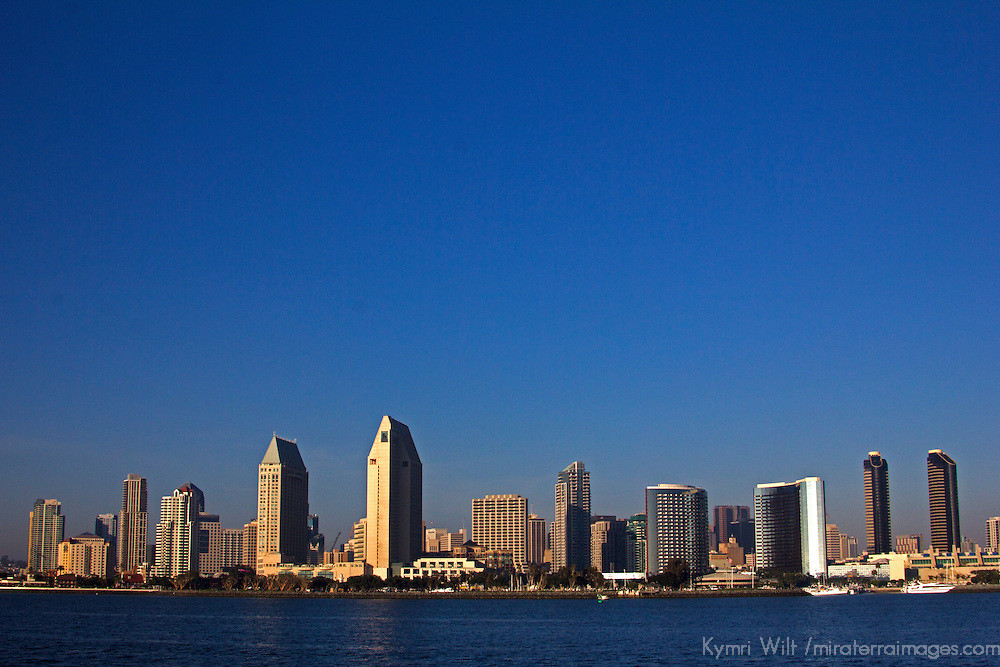 USA, California, San Diego. San Diego City Skyline.