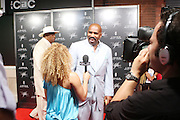 "Steve Harvey at "" Lincoln After Dark "" sponsored by Lincoln Motors and hosted by Idris Elba and Steve Harvey and music by Biz Markie during the 2009 Essence Music Festival and held at The Contemporary Arts Center in New Orleans on July 4, 2009"
