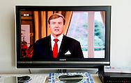 ARNHEM - Christmas speech of King  Willem Alexander on the dutch television  . COPYRIGHT ROBIN UTRECHT
