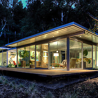 Glass house, modern style.