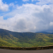 &quot;Curving the View&quot;<br /> <br /> Beautiful curve of the stone wall set against the backdrop of the Blue Ridge Mountains!<br /> <br /> The Blue Ridge Mountains by Rachel Cohen