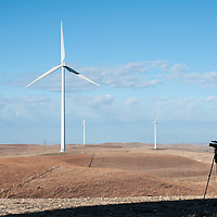 photographer at wind project site