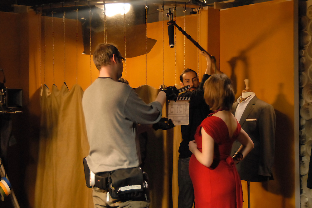 Behind the scenes stills of the filming of His Uterus, Her Lover, directed by Claire Leona Apps.<br /> A Dog Eared Films production.