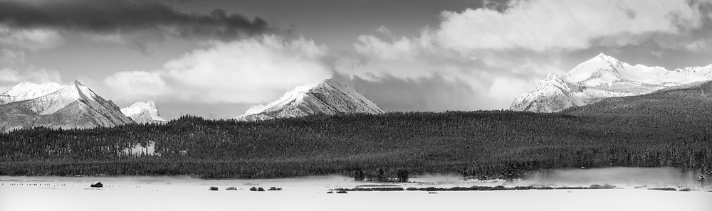 """McDonald, Park, and Imogene Peaks in the Sawtooth Mountain Range, near Sun Valley Idaho. High resolution, prints to 120"""" wide."""