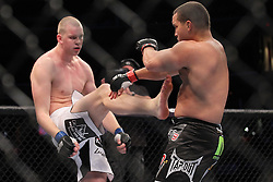October 1, 2011; Washington D.C.; USA; Pat Barry (black trunks) and Stefan Struve (white trunks) during their bout at UFC on Versus 6 at the Verizon Center.