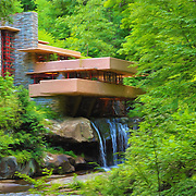 &quot;Fallingwater Painterly 2&quot; <br />