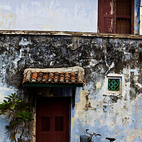 doorway of a george town house, penang, malaysia