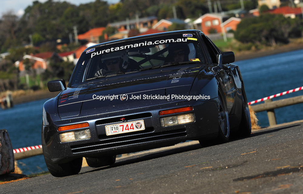 #744 - Michael Pritchard & Timothy John Stevens - 1989 Porsche 944 S2.Prologue.George Town.Targa Tasmania 2010.27th of April 2010.(C) Joel Strickland Photographics.Use information: This image is intended for Editorial use only (e.g. news or commentary, print or electronic). Any commercial or promotional use requires additional clearance.