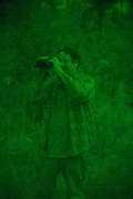 Searching for Bigfoot in rural Alabama on October 18, 2013.