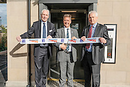 Commercial photography at Dunblane & Haymarket railway stations, Scotland for Stannah Lifts. L-R: ScotRail managing director Steve Montgomery, Transport minister Keith Brown and Network Rail route managing director for Scotland, David Dickson.