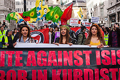 "2014-10-19 Kurds march in London against ISIS and Turkish ""complicity!"