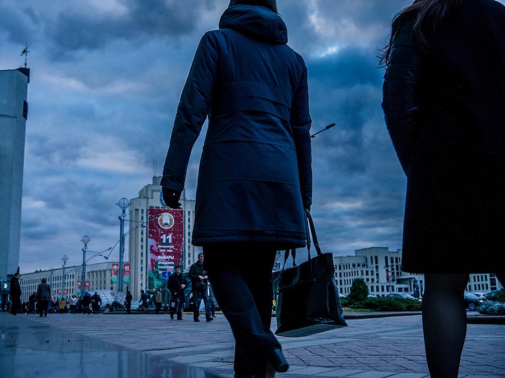 Independence Square on Thursday, October 8, 2015 in Minsk, Belarus.