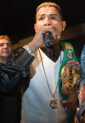 March 2, 2006 - New York, NY - WBC Junior Middleweight Champion Ricardo Mayorga at the NY press conference announcing his May 6th title defense against Oscar DeLaHoya.  The fight will take place in Las Vegas.