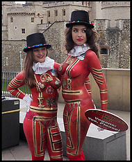 APR 22 2014  Body painted Vegan Beefeaters Want You To Hold The Beef